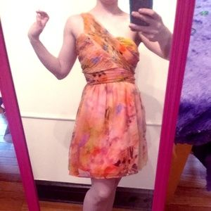 CHARLOTTE RUSSE One-shoulder Butterfly Dress